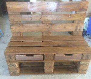Panca divano in legno 120x50 con pallet bancali epal con for Panca pallets