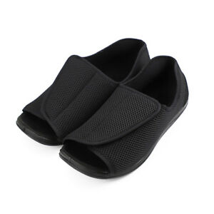 6f35421bb64c Image is loading Mens-Extra-Wide-Diabetic-Slippers-Adjustable-Swollen-Feet-