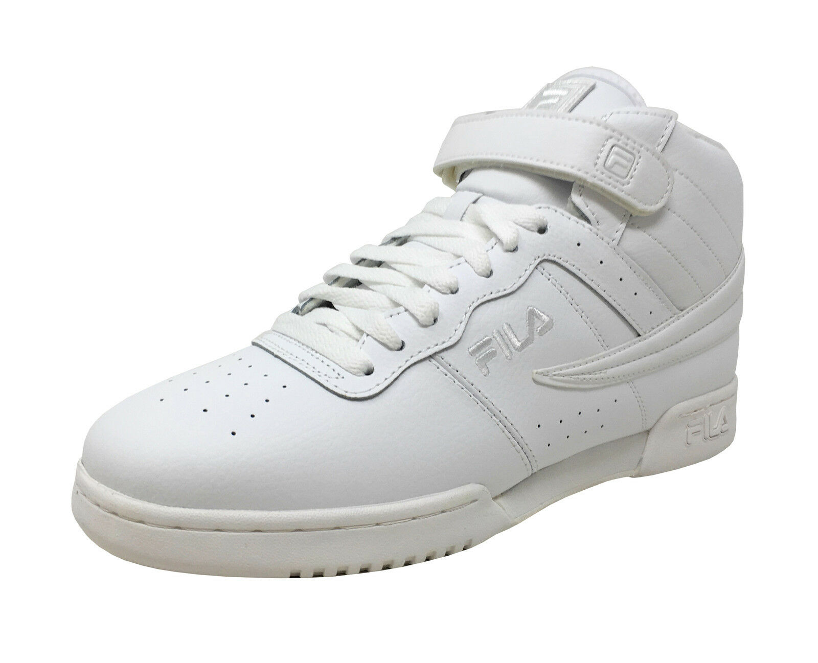 Fila Men's F-13v Hi Top Basketball shoes 1VF059LX-100 - Triple White