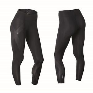 ea0809d6 2XU Women's Mid Rise Compression Tights (Black/Dotted Reflective ...