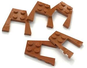 Lego-Lot-of-5-New-Dark-Orange-Wedges-Plates-4-x-4-Pieces