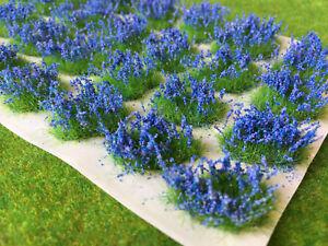 Flower-Patches-Bluebells-Model-Scenery-Grass-Tufts-Big-Blue-Garden-Railway