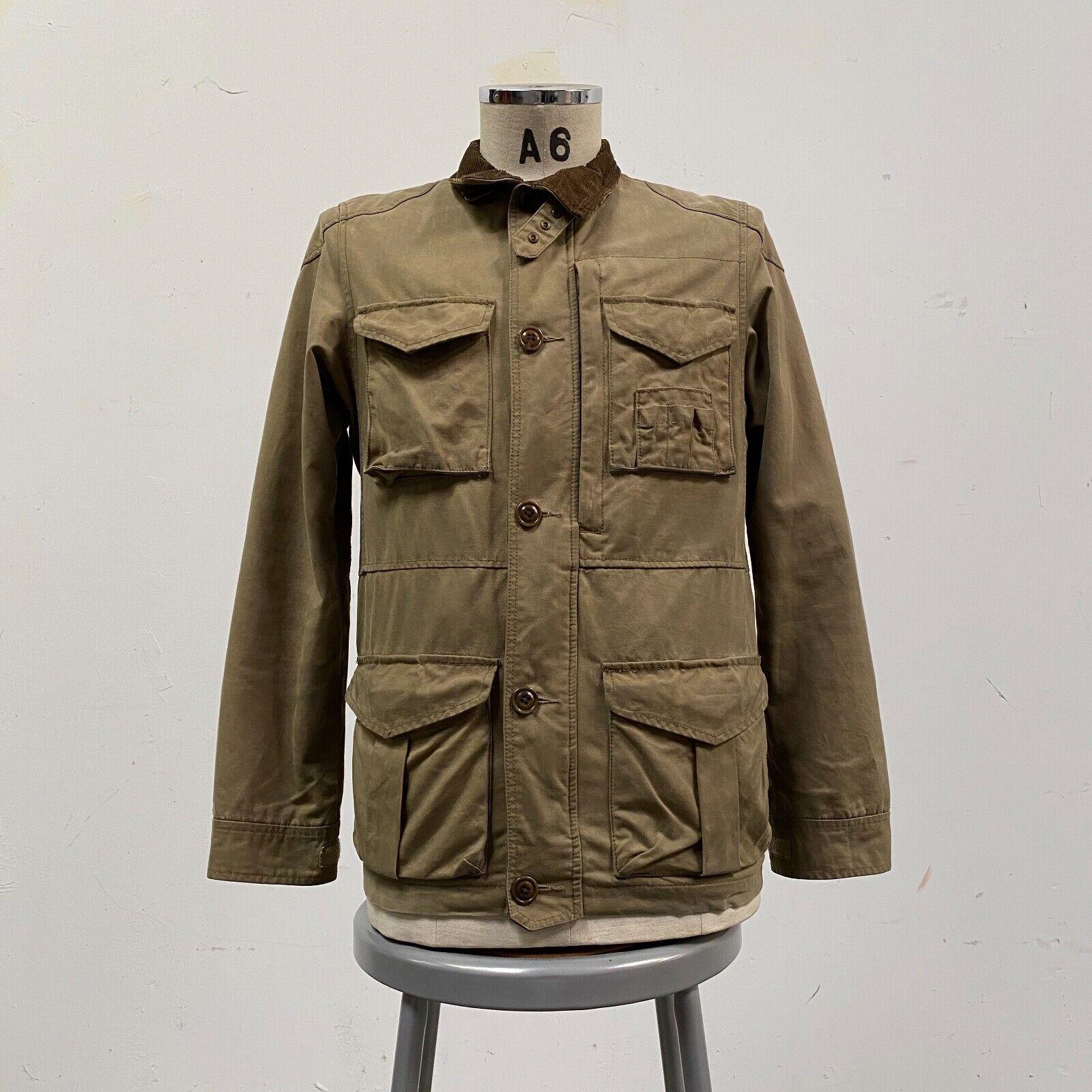 J.Crew Field Jacket Size XS Brown Wax Distressed - image 1