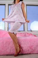 Cute Sissy Valentine's Day Teddy Bear Hearts Girly Soft Top Pants Pajama Set M/l