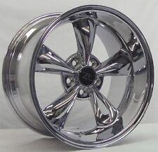 "18"" Chrome Deep Dish Mustang Bullitt Wheels Rims 18x9 18x10 Inch 5x114.3 94-04"