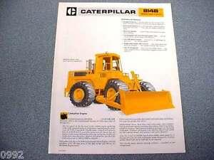 Caterpillar 814B 824C 834B Wheel Tractor 815B 825C Comp Dealer/'s Brochure DCPA3
