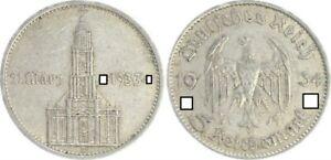 Tercer Imperio 5 Marco Garnisonkirche 1934A Con Fecha MBC (2) 25852