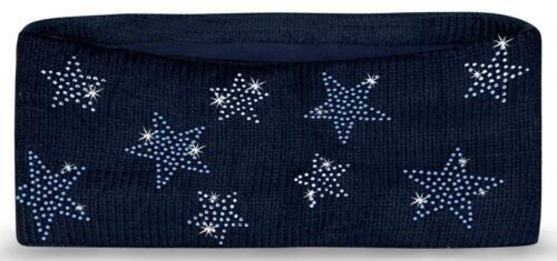 Femmes Bandeau Strass étoiles Polaire Cache hiver Bandeau Bandeau