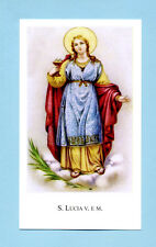 SANTINO S.LUCIA V.M. IMAGE PIEUSE - HOLY CARD SANTINI