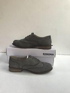 Detalles de Sonoma Mujer Zapatos Talla 6 Con Cordones Oxford ante y lona Vestido Gris Nuevo Sin Caja ver título original