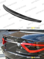 Carbon Fiber Rear Trunk Spoiler Wing For Maserati Gran Turismo Convertible 12-13