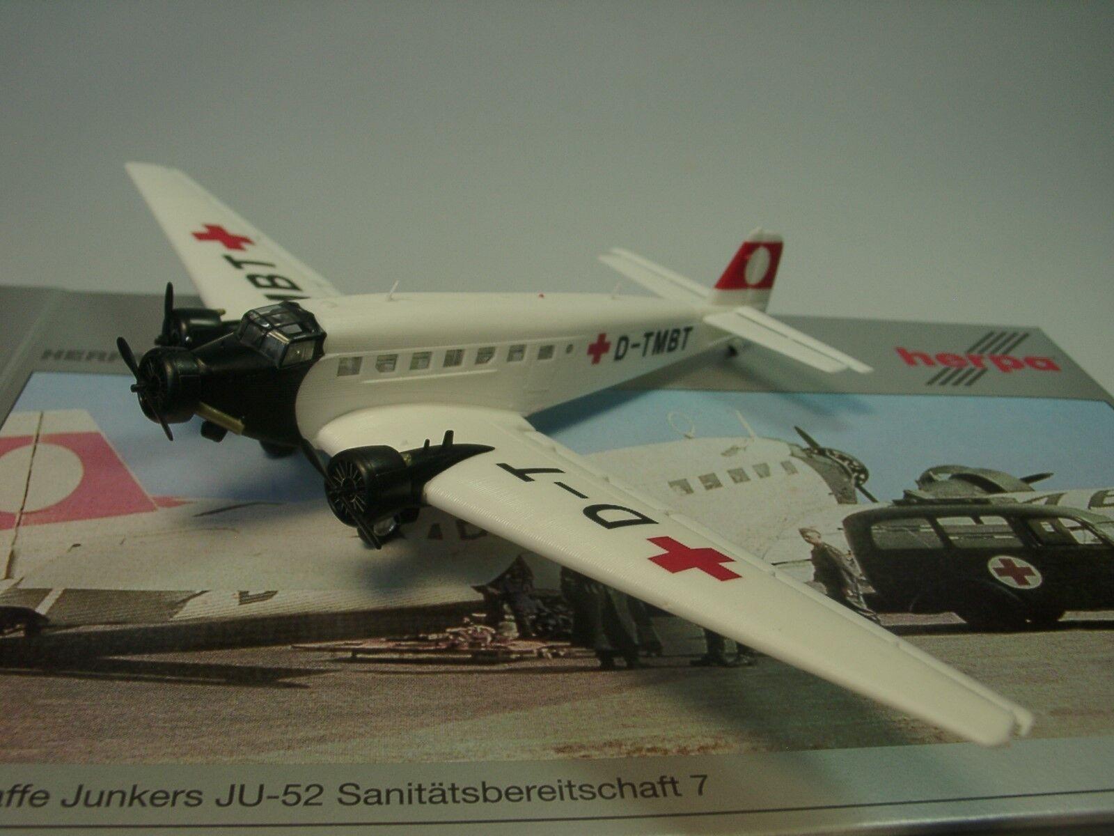 HERPA wings Junkers ju-52 sanitätsbereitschaft 7 - 019132 - 1 160