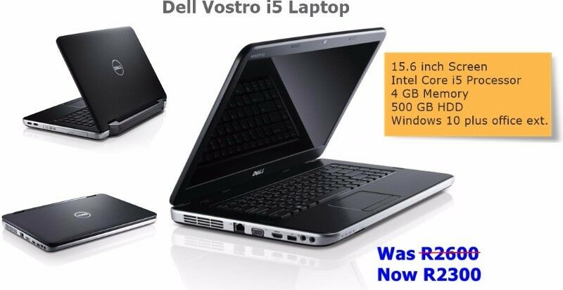 Dell Vostro Core i5 Laptop. Selling for R2300. Bluetech Computers 021 948 8230