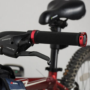 Handlebar-Grips-Double-Lock-BMX-MTB-Mountain-Bike-Bicycle-Cycling-New