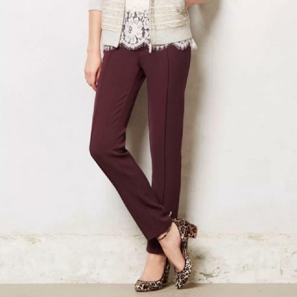 NWT Anthropologie Cartonnier Charlie Oxblood Burgundy rot Ankle Pants Größe 0