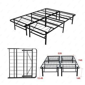 Modern-Full-Size-Bi-Fold-Folding-Platform-Metal-Bed-Frame-Mattress-Foundation