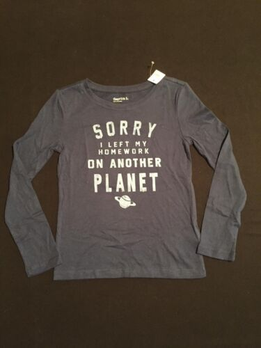 4-5 NWT GapKids Girls Left Homework on Another Planet Top Size XS /& S 6-7