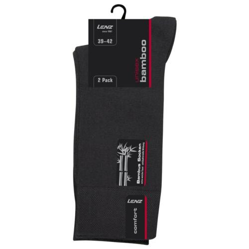 Lenz Unisex Bambus Socken 2er Pack Antibakteriell Bamboo Herren Damen Allround