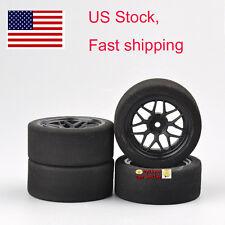 US 4Pcs RC 67mm Unique Foam Tires&Wheel Rim For HSP HPI 1:10 on-Road Racing Car