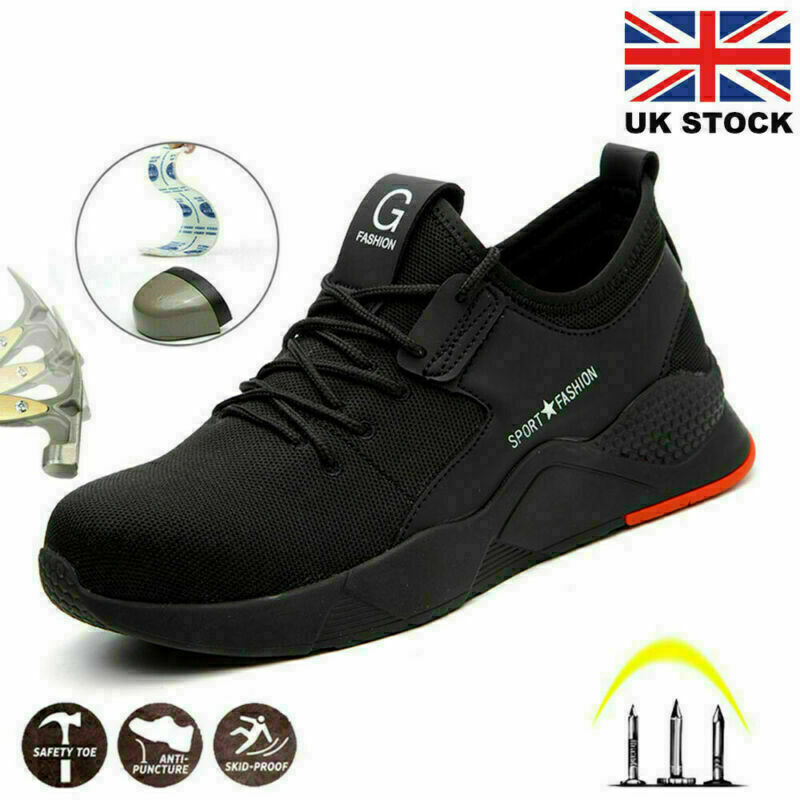 Steel Toe Cap Safety Trainers Lightweight Work Boots Mens Women Hiking Shoes UK