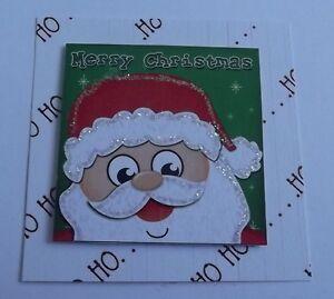 *** Pack 3 Joyeux Noël Fun Santa Embellissements Pour Cartes Ou Artisanat ***-afficher Le Titre D'origine