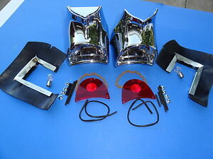 1957 CHEVROLET BEL AIR 210 150 TAILLIGHT EMBLY-PAIR-GENE SMITH ...
