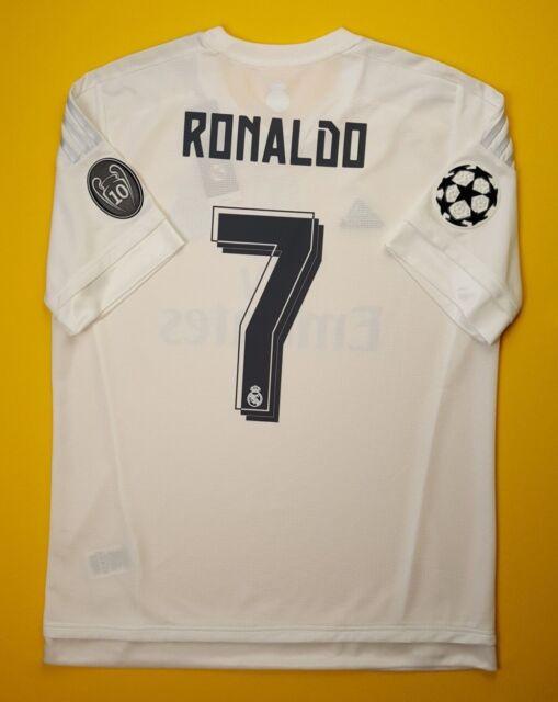 b339d2f7b83 5+ 5 Ronaldo Real Madrid jersey LARGE 2015 2016 home shirt AK2496 soccer  Adidas