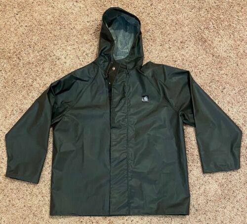 Carhartt Rain Coat Heavy Duty Waterproof Hooded Me