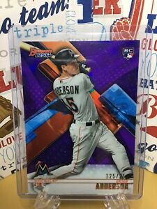 2018-Bowman-039-s-Best-Purple-Refractor-Brian-Anderson-RC-250-Florida-Marlins