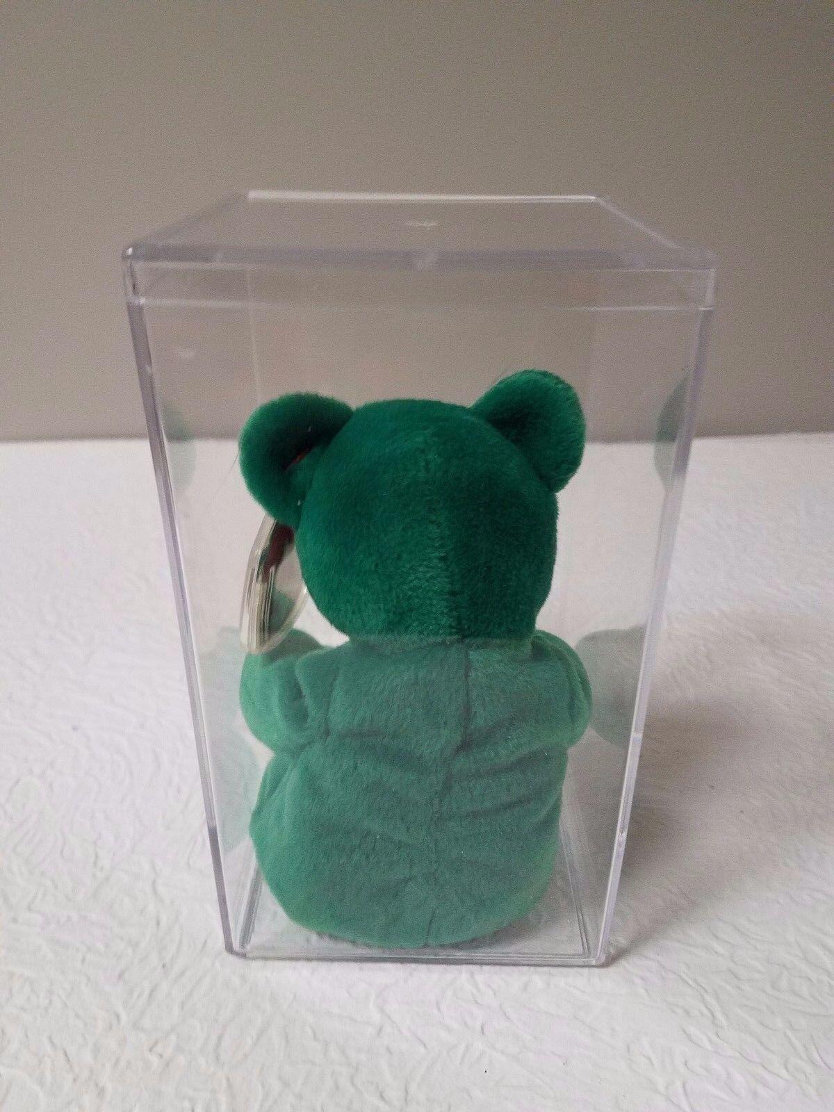 TY TEENIE BEANIE ERIN THE IRISH IRISH IRISH 8  PLUSH BEAR TOY NEW IN PLASTIC BOX 36b37f