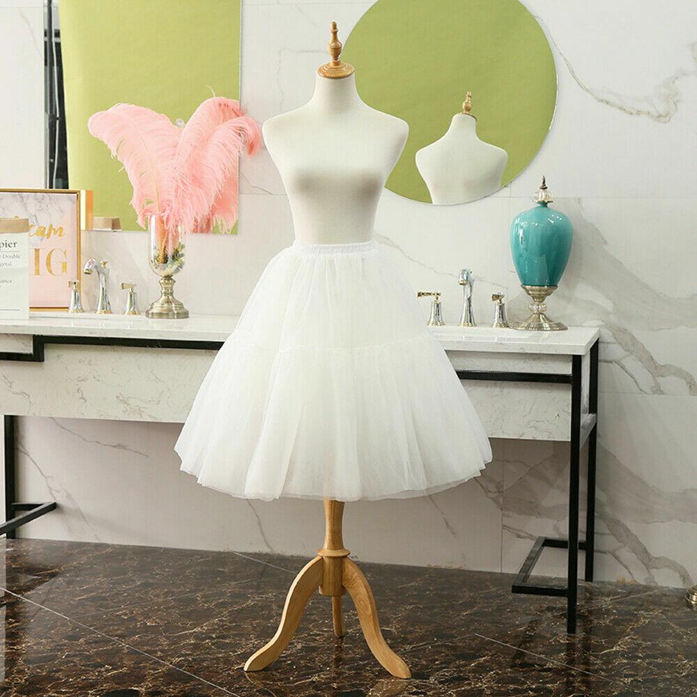 60cm Girls Lolita Underskirt Petticoat Skirt Dress Crinoline Hoopless Waist60-95