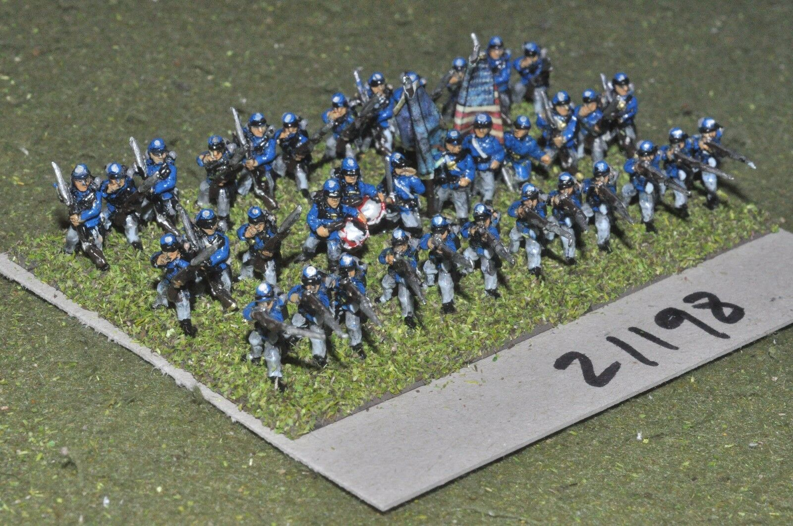 15mm ACW   union - american civil war small infantry 36 figures - inf (21198)