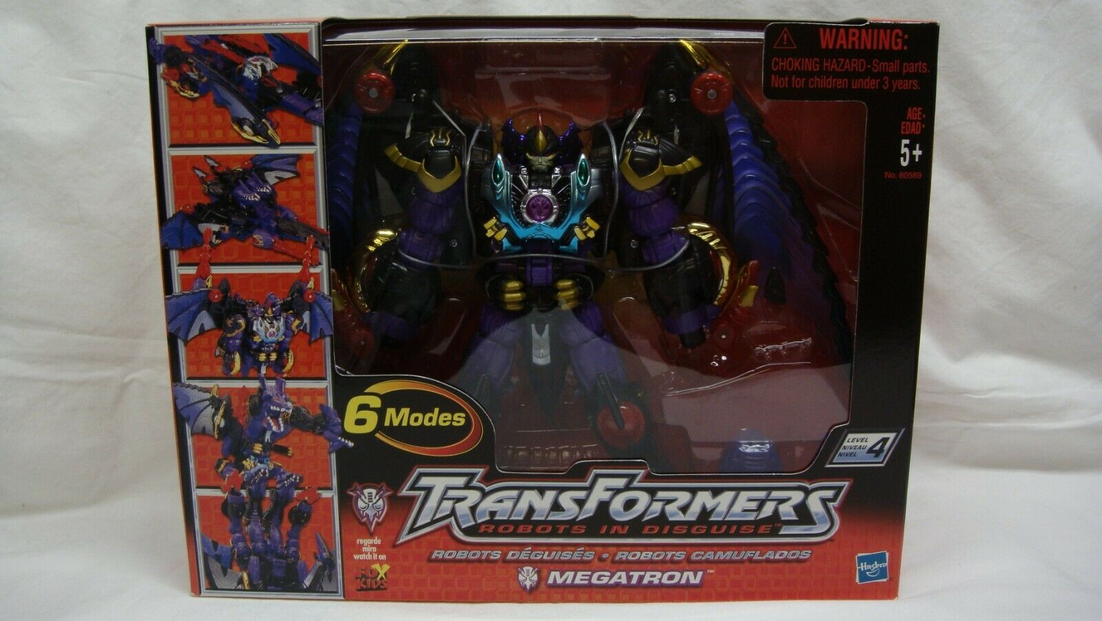 TRANSFORMERS ROBOTS IN DISGUISE RID MEGATRON 6 MODES 2001 NEW IN SEALED BOX