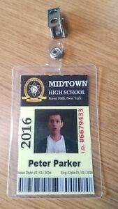 Spider-man-ID-Badge-Midtown-High-School-Peter-Parker-cosplay-prop-costume