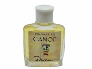 """PARFUM CANOE """"DANA"""" EAU DE TOILETTE POUR HOMME PLEIN 1960 VINTAGE FLACON RARE!!"""