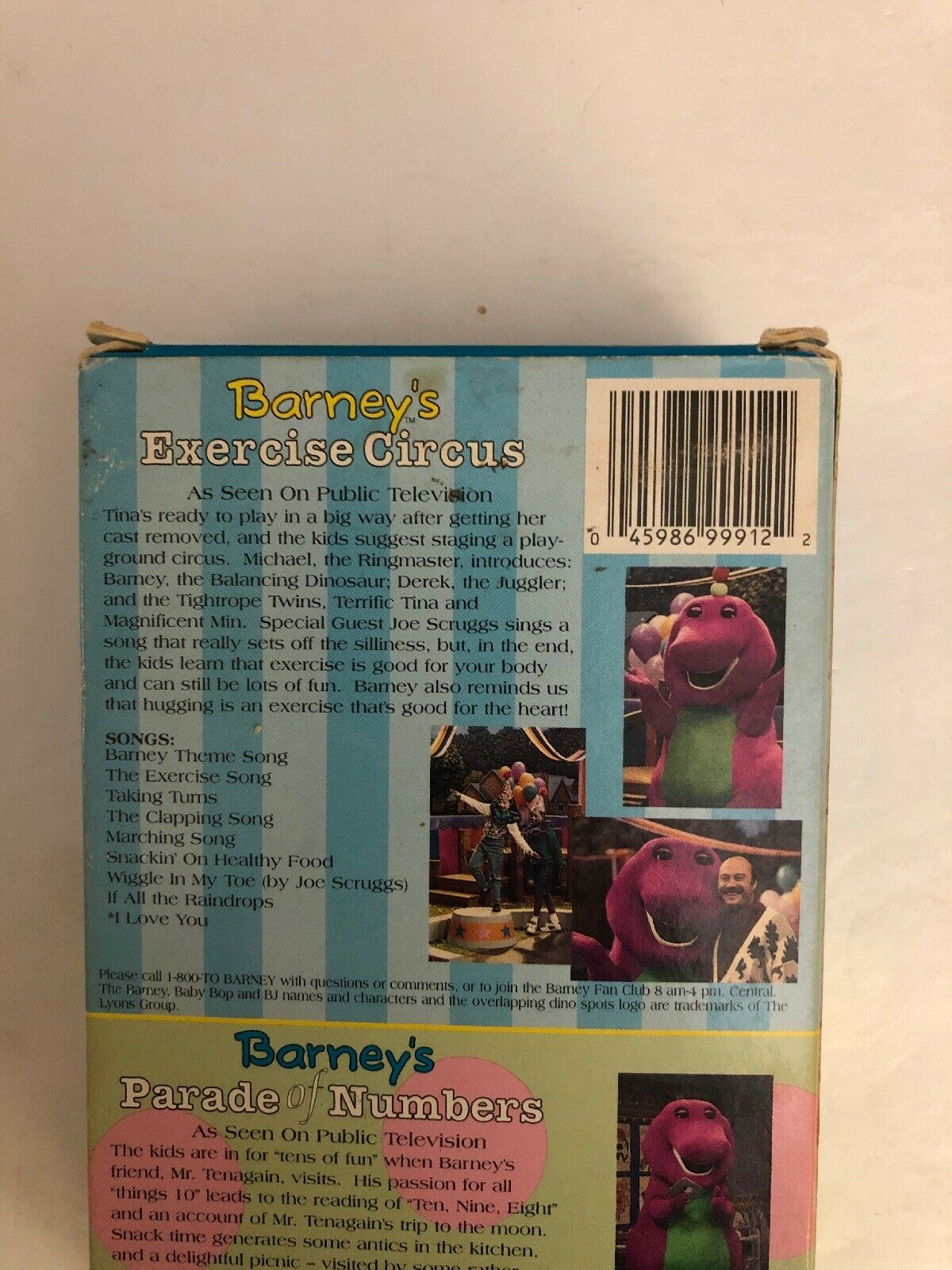 Barneys Exercise Circus/Parade of Numbers (VHS, 1996, 2-Tape Set)
