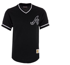Mitchell-amp-Ness-Atlanta-Braves-Baseball-Jersey-New-Mens-Sizes-MSRP-80