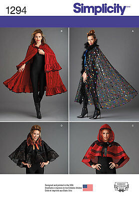 SIMPLICITY 1294 Misses Dickens Victorian or Fantasy Cape Costume Sewing Pattern