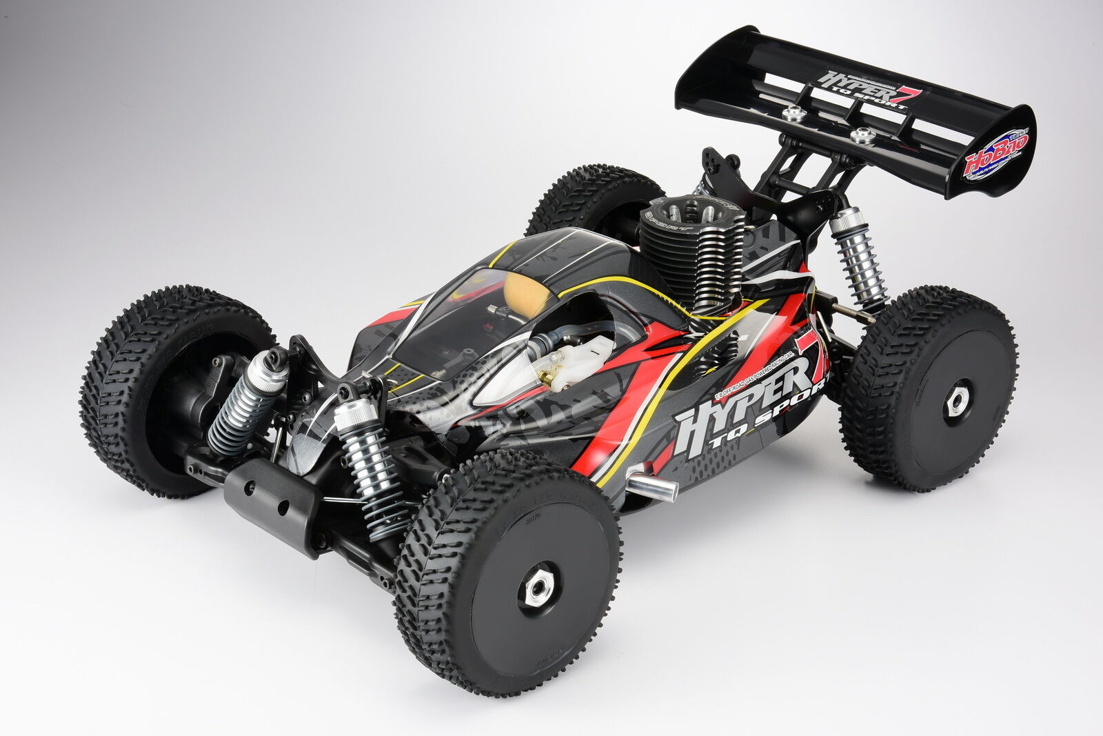 NEW HOBAO HYPER 7 TQ  NITRO RTR CAR -  NEW grigio BODY (LLJSTORE) US SELLER