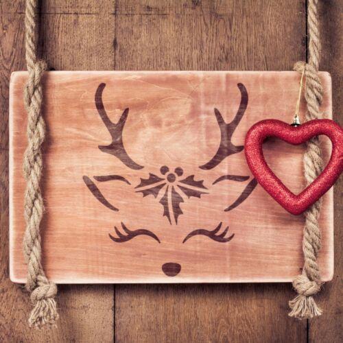Renne de Noël Pochoir 18 x 20 cm-Mignon Réutilisable Noël Craft Modèle