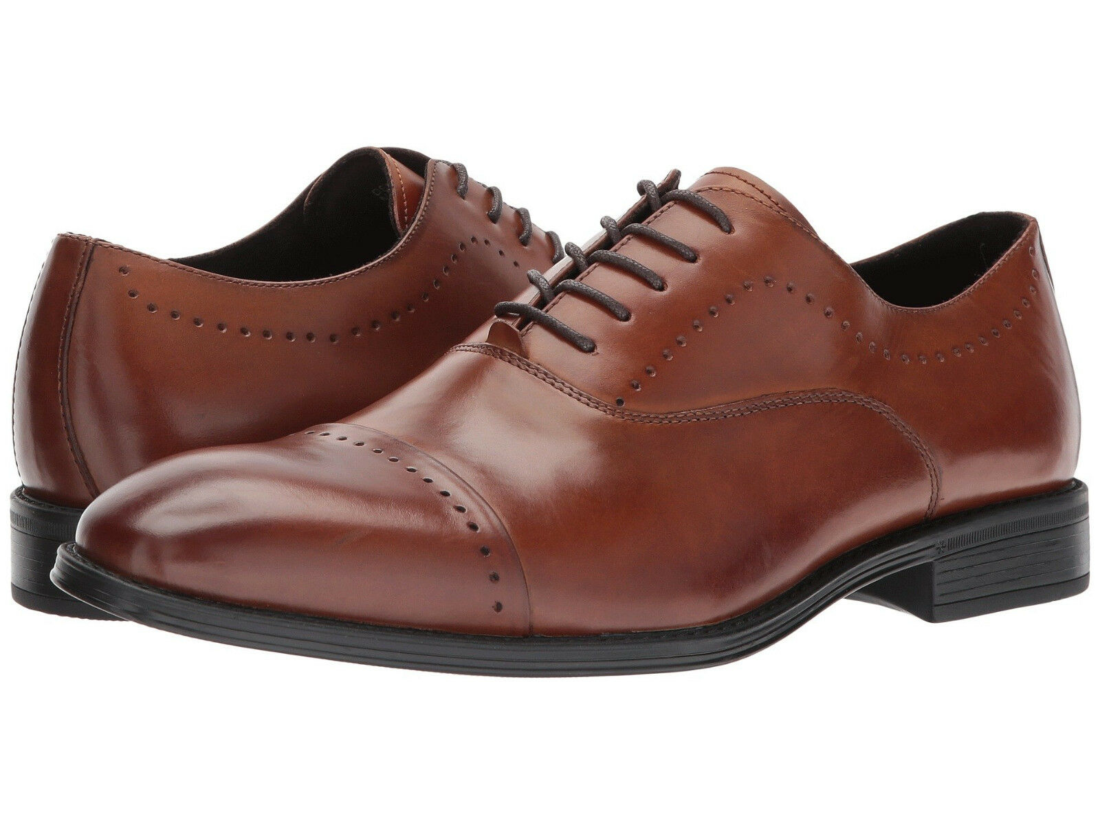 Kenneth Cole NY Men's Design 102212 US 13 M Cognac Leather Oxfords shoes