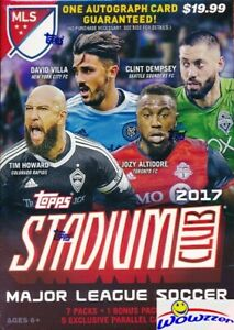 2017 Topps Stadium Club MLS EXCLUSIVE Factory Sealed Blaster Box- AUTOGRAPH