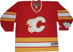 online retailer 58527 a5058 Details about Calgary Flames Reebok Replica Throwback 550 Jersey New with  tags LARGE