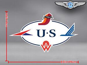US-AIRWAYS-HERITAGE-LOGO-STICKER-DECAL-PSA-AMERICA-WEST-ALLEGHENY-PIEDMONT
