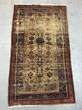 Old Antique Handmade Baluchi Rug 5.6x3.2 Ft Shabby Chic