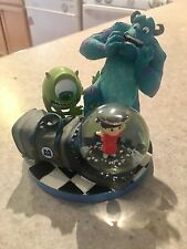 RARE! Disney Pixar Monsters Inc. Mini Snow Globe Sully Boo Mike