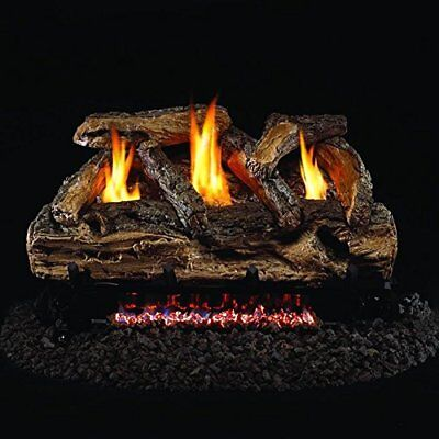 Peterson Real Fyre 30-inch Split Oak Log Set With Vent-free Natural Gas Ansi ...