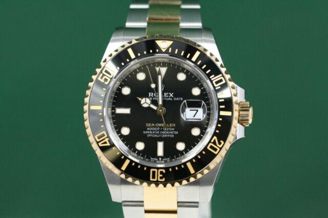 Rolex Sea-Dweller Model 126603 Steel & Gold Oyster Band Black Dial -Unused-