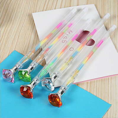 Wholesale 4pcs/lot Cute Colored Crystal Diamond Gel Pens Multi Color Pen Set
