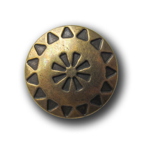 œillets métal boutons avec motif ethno dans ANTIK-optique 1089me-18mm 5 messingfarb
